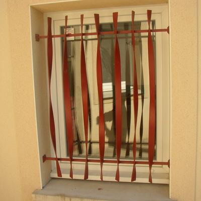 grille de fenêtre barreau en  plat ondulé (cliquez  pour voir les autres)